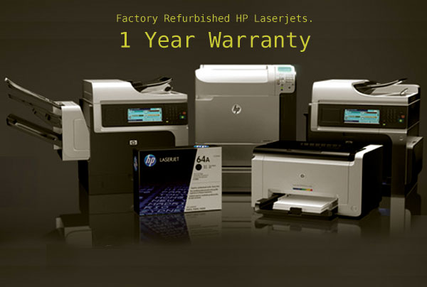 All our HP Laserjet models are refurbished with a 90 day warranty.