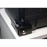 Laser Printer Paper Cassette Tray Lock. Color = Black